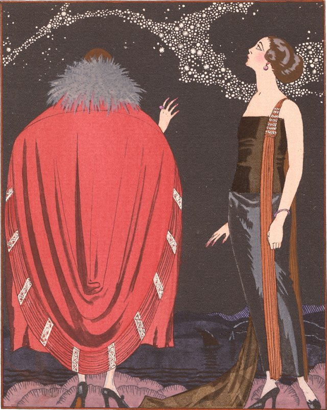 Art Deco Pochoir by Barbier, 1921
