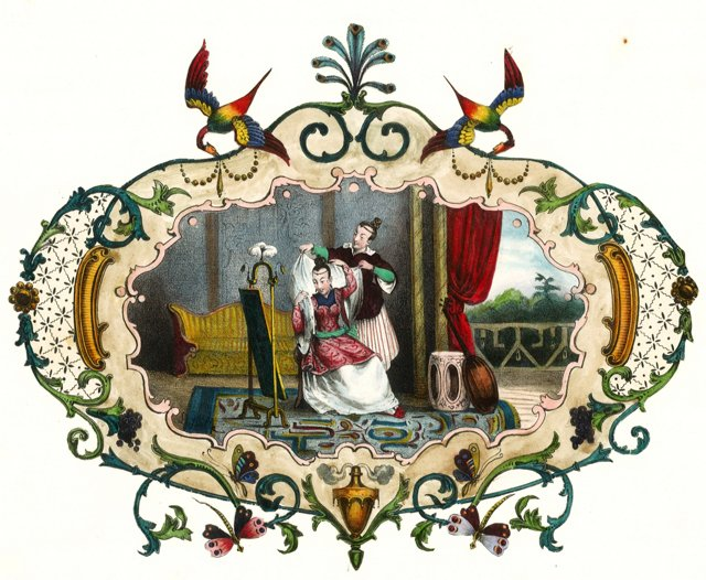 Chinese Noble Lady w/ Maid, 1834