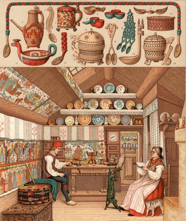 Swedish Home Interior &  Utensils, 1877