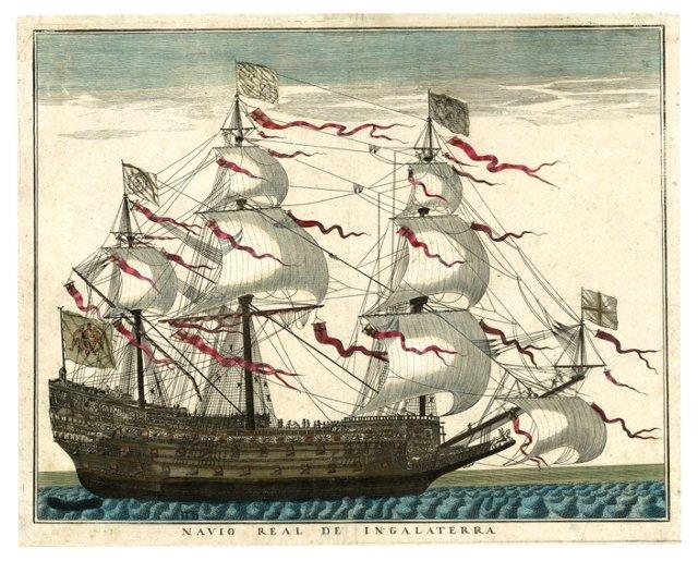 18th-C. Royal Ship of England