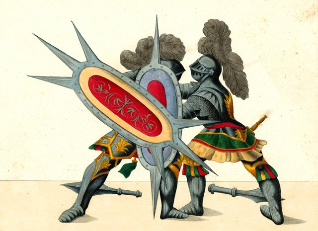 Knights in Armor  Dueling, C. 1842