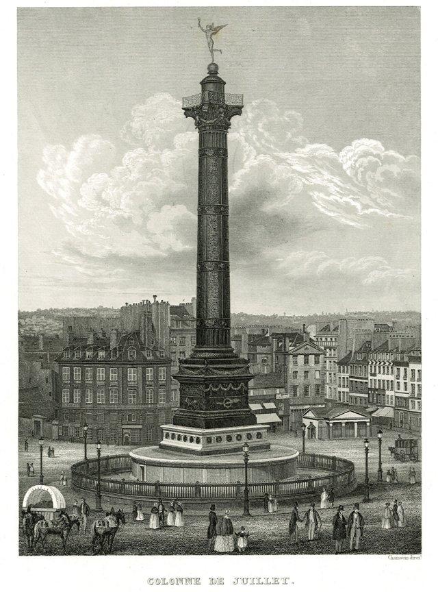 Colonne de Juillet, Paris C. 1855