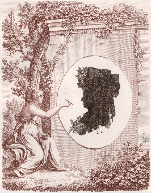 French Royal Governess Silhouette, 1793