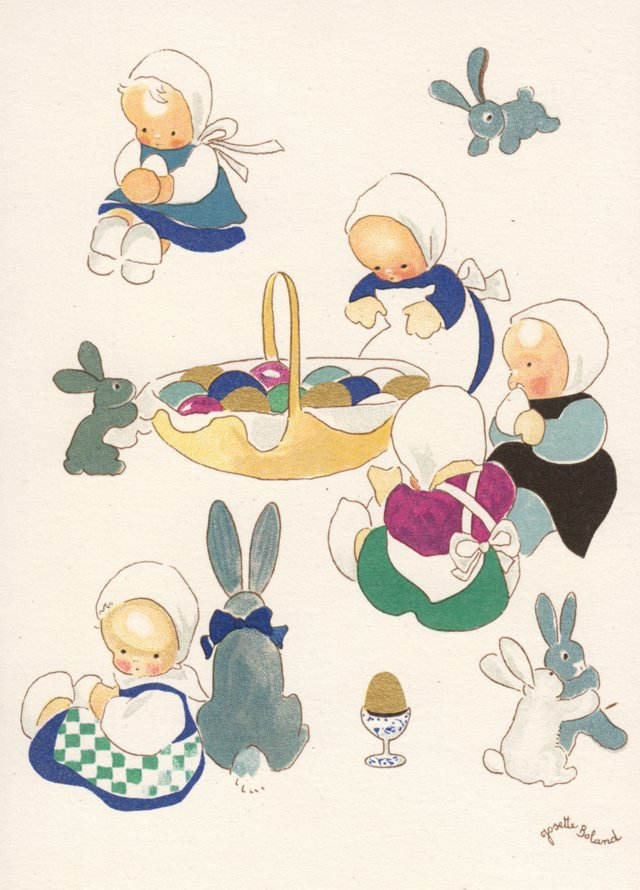 Easter Eggs and Bunnies, C. 1950