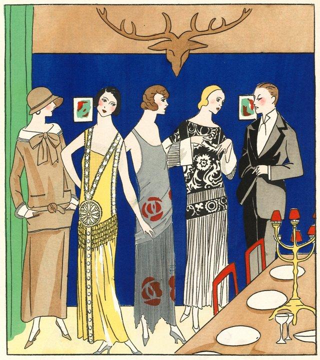 Art Deco Lanvin & Poiret Designs, 1923