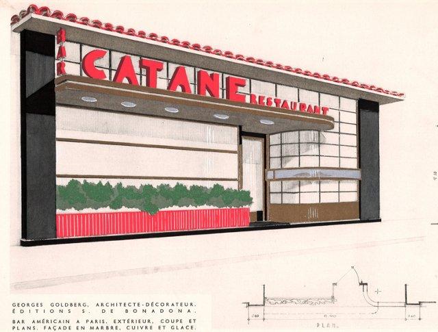Parisian Restaurant Design, C. 1936