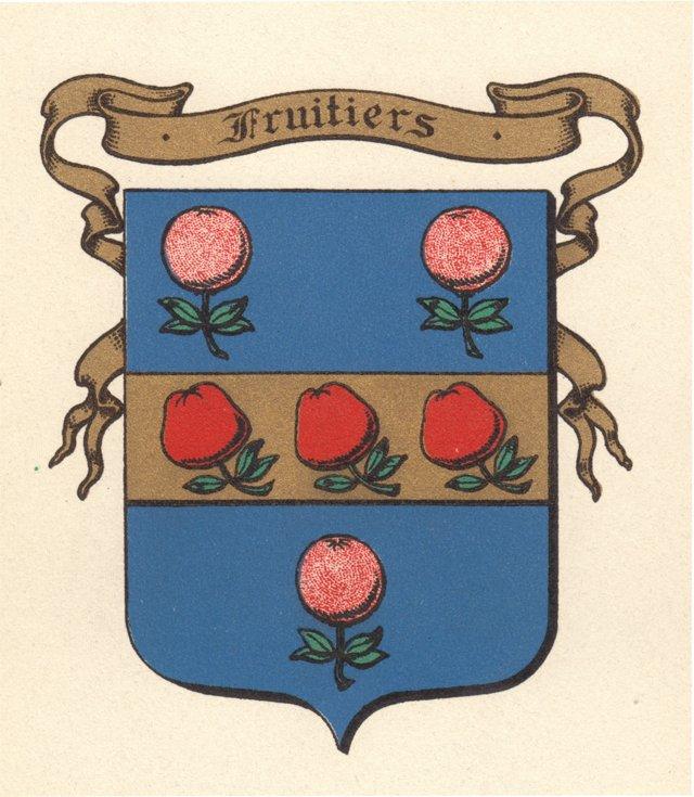 Coat of Arms w/ Fruit, C. 1900