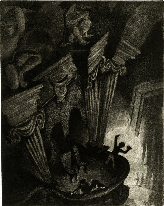 Shadows at the Theater Lithograph