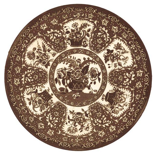 Mezzotint Floral Engraving, C. 1750