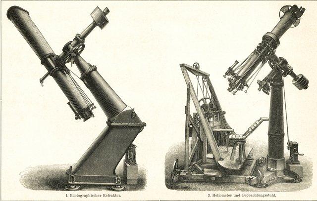 Antique Telescopes, C. 1900