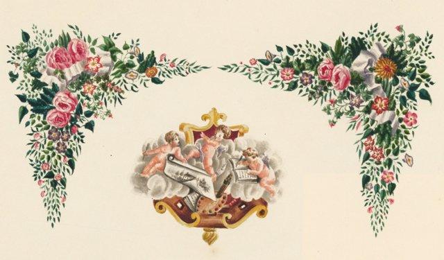 Victorian Watercolor of Angels, C. 1850