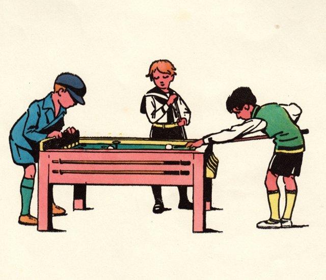 Boys Playing Billiards, C. 1920