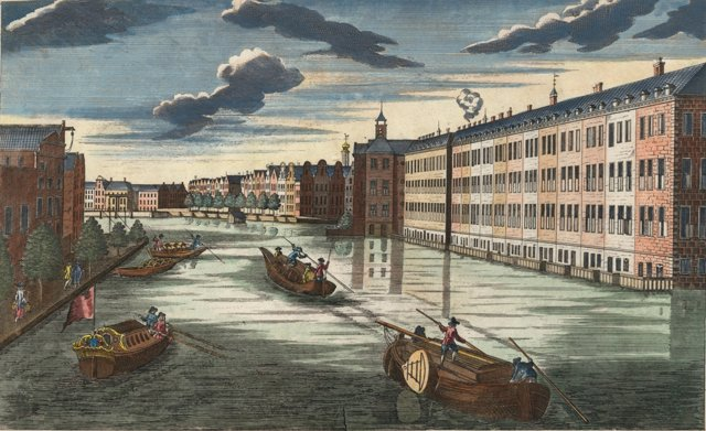 View of Amsterdam Canal, C. 1780