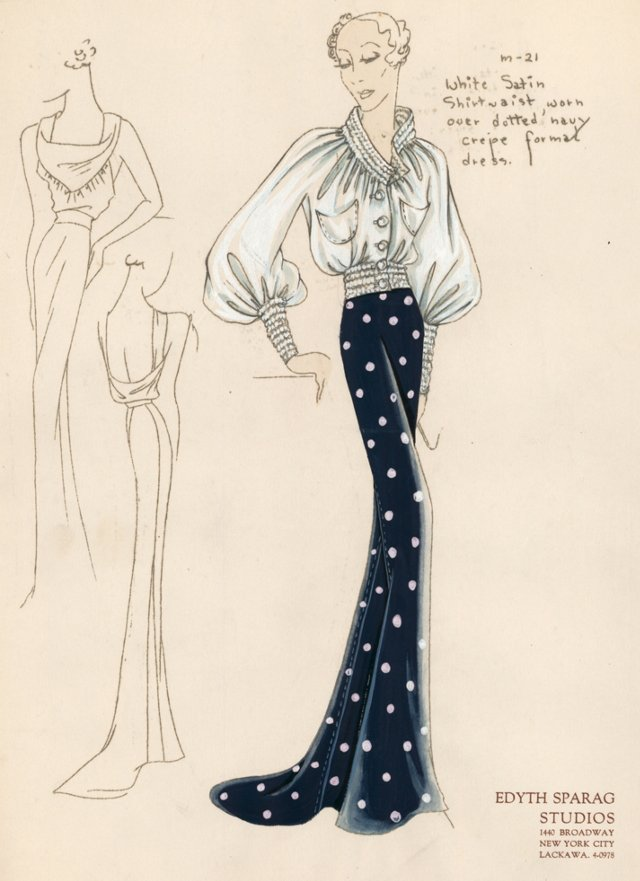 Edyth Sparag Original Dress, C. 1940