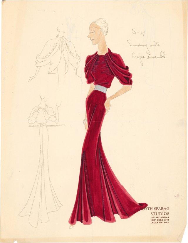 Edyth  Sparag Original Dress C. 1940