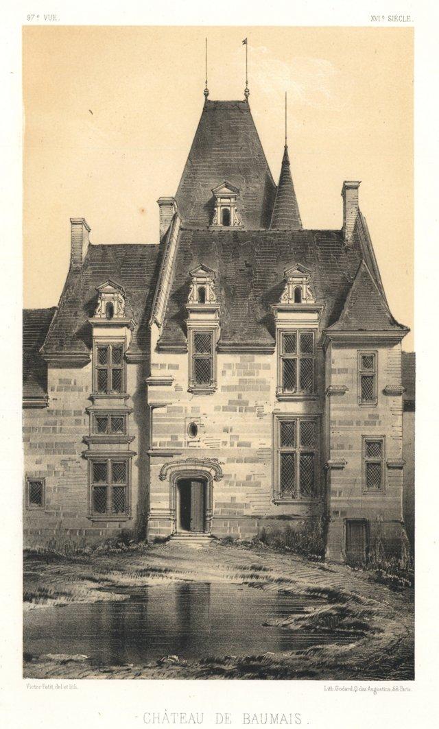 Château de Baumais Lithograph, C. 1840