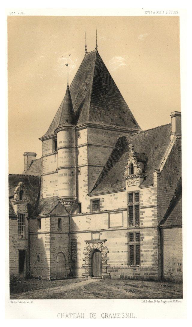 Château de Cramesnil Lithograph, C. 1840