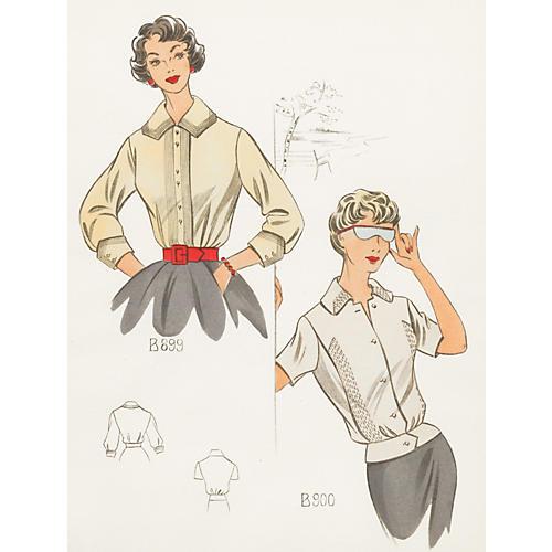 French Summer Fashion, 1958
