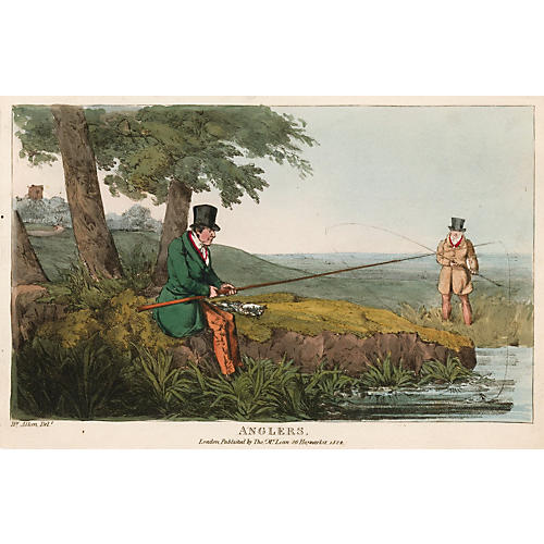 Anglers by Henry Alken, 1824