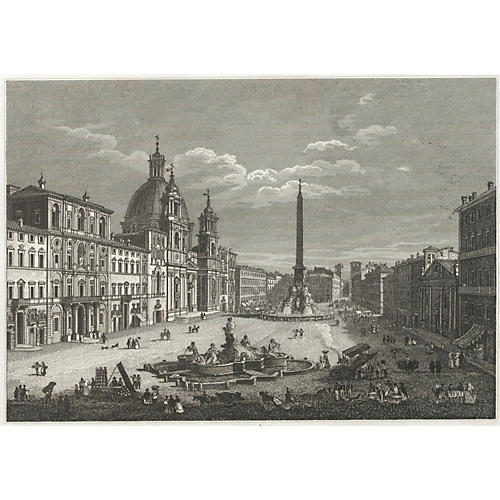 Piazza Navona, Rome, C. 1840