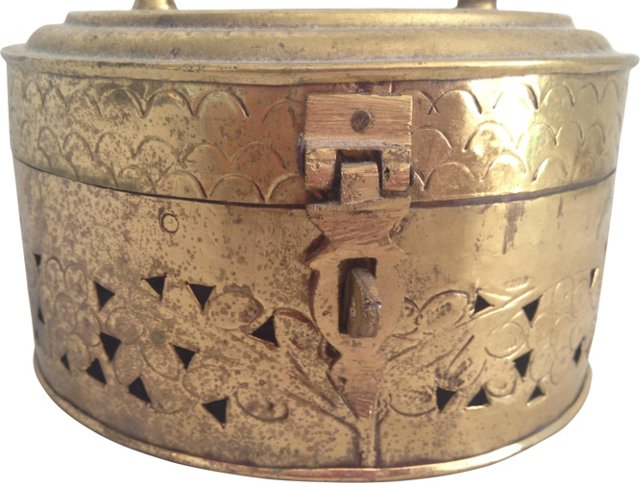 Pierced Brass Cricket Box
