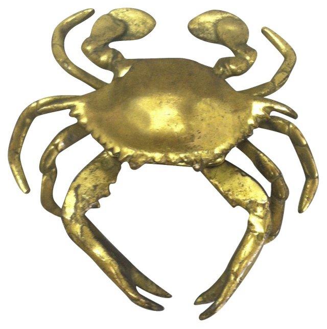 Brass Crab Lidded Box