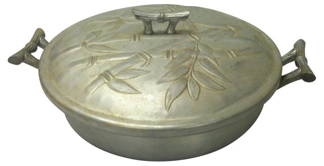 Aluminum Bamboo Covered Dish
