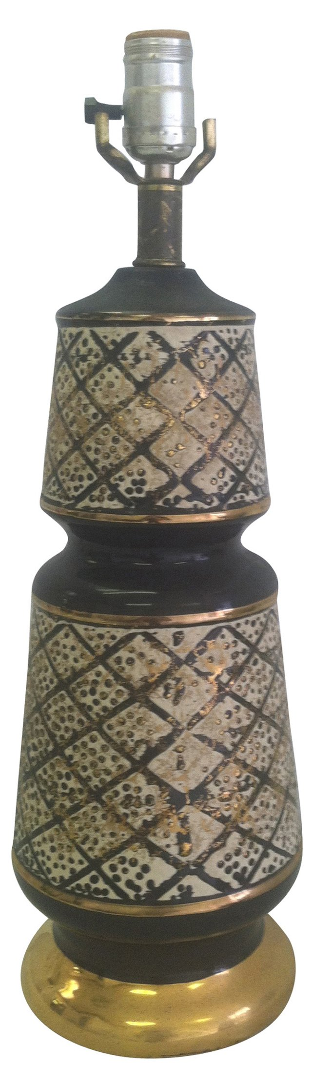 Midcentury Black & Gold Lamp