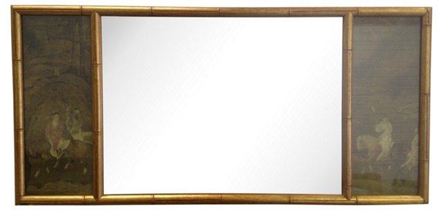 Gilt Faux-Bamboo Chinoiserie Mirror