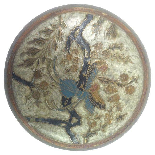 Cloisonné & Brass Peacock Box