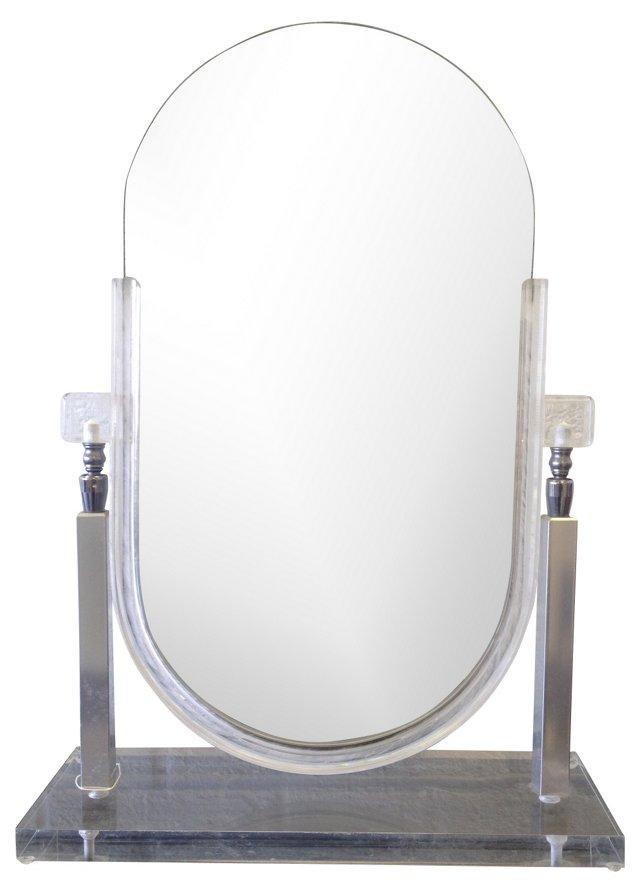 Lucite Vanity Mirror
