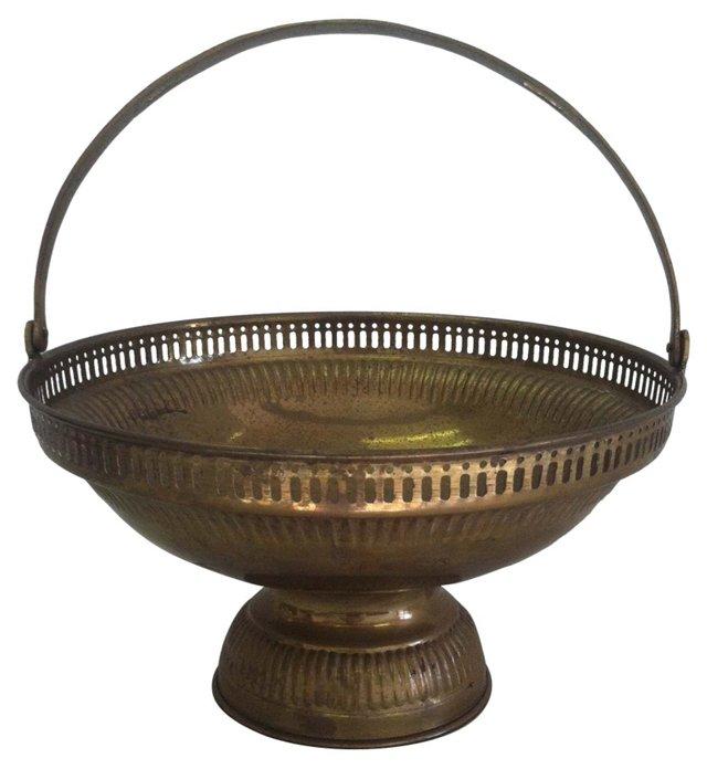 Pierced Brass Basket