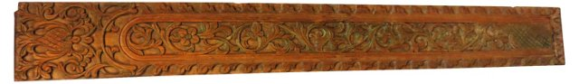 Long Elaborate Carved Wood Panel
