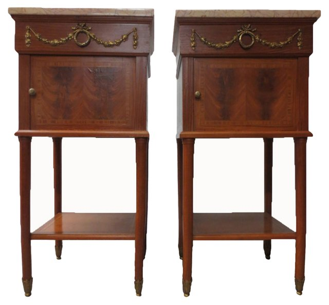 Antique French Side  Tables, Pair