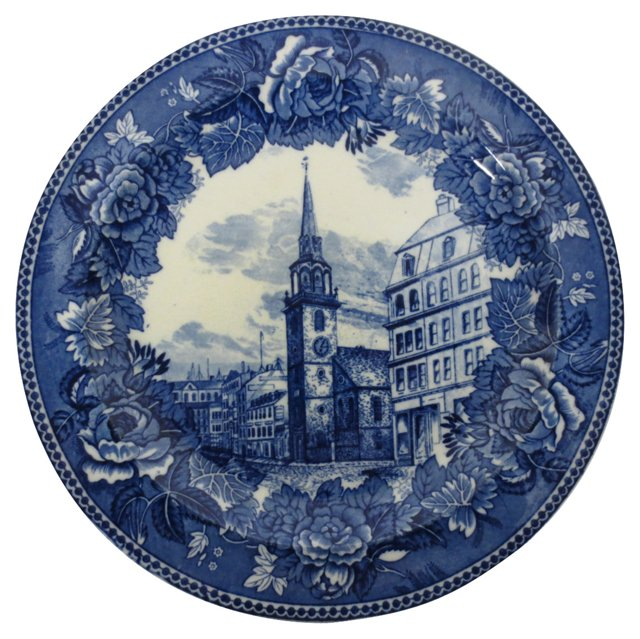 Blue and White Wedgwood Plate