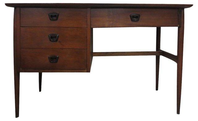 Mid-Century Modern 4-Drawer Desk