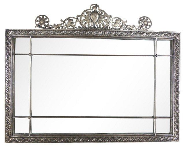 Ornate Cast & Painted Steel Mirror