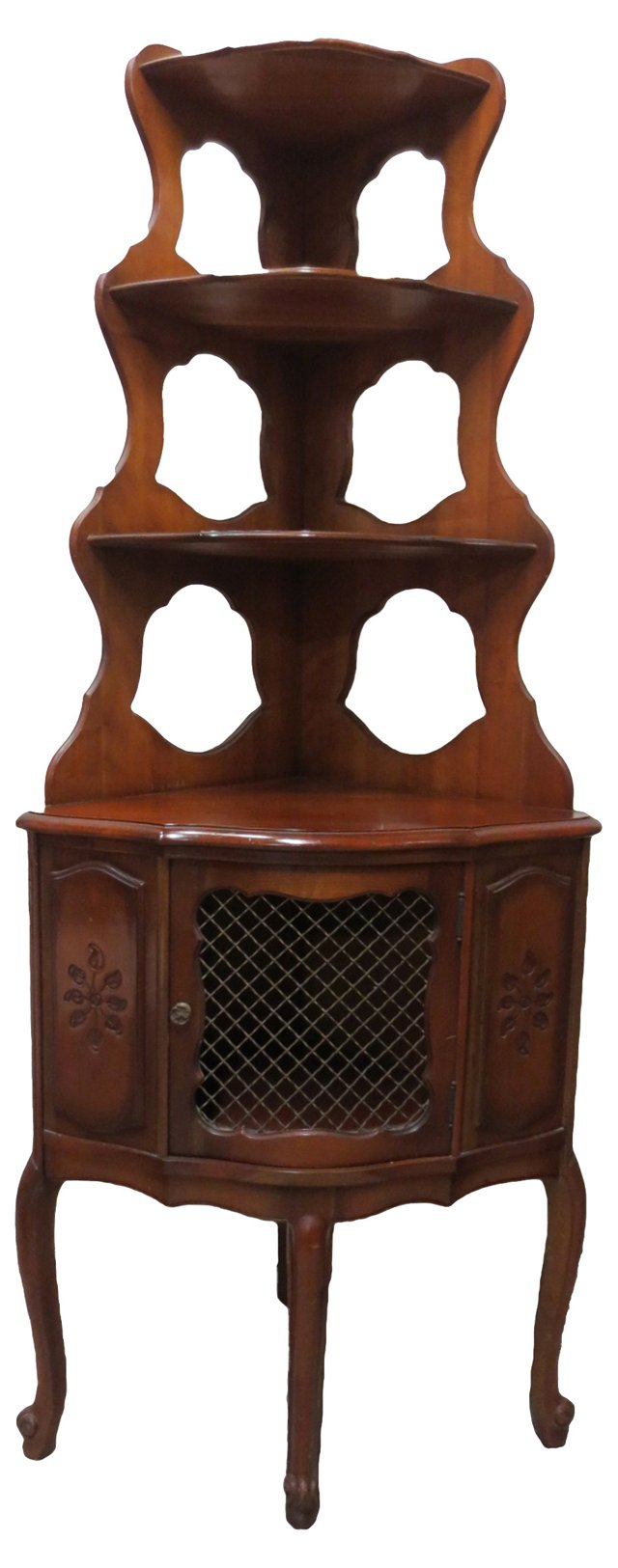Tiered Corner Cabinet