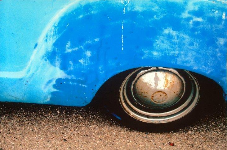 Blue Fender Cibachrome