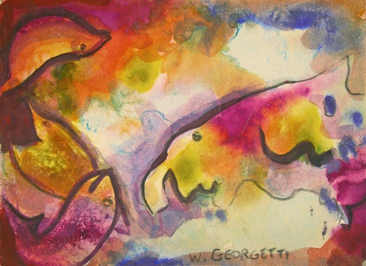 Biomorphic Abstract by Wedo Georgetti