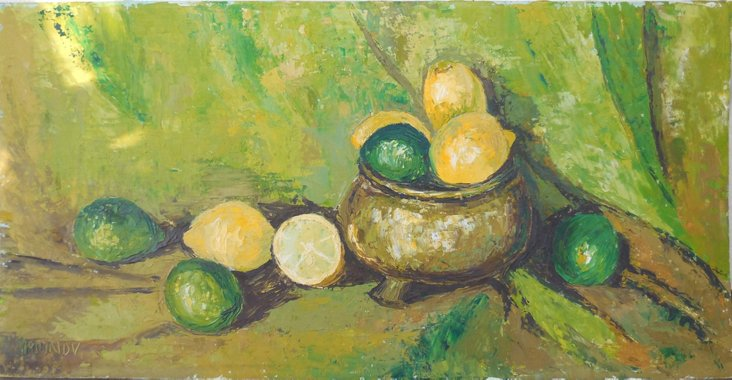 Still Life in a Copper Bowl, 1975