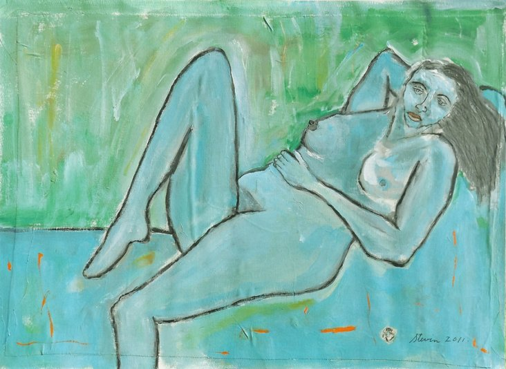 Reclining Nude by Stevin Cohen