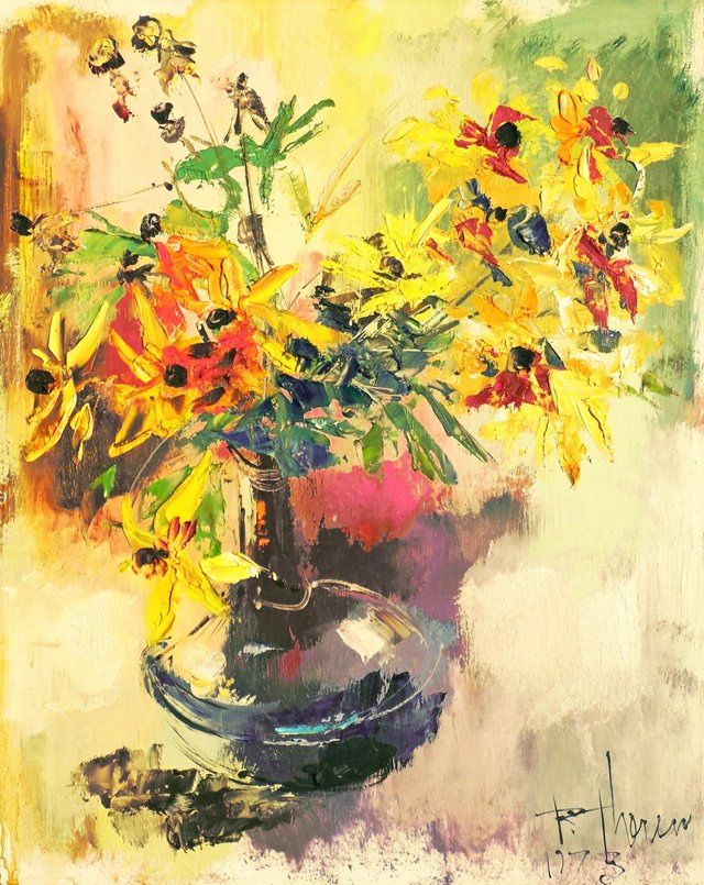 Still   Life of Flowers, 1973