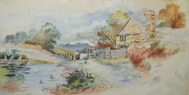 Peaceful Country Lane, 1930s