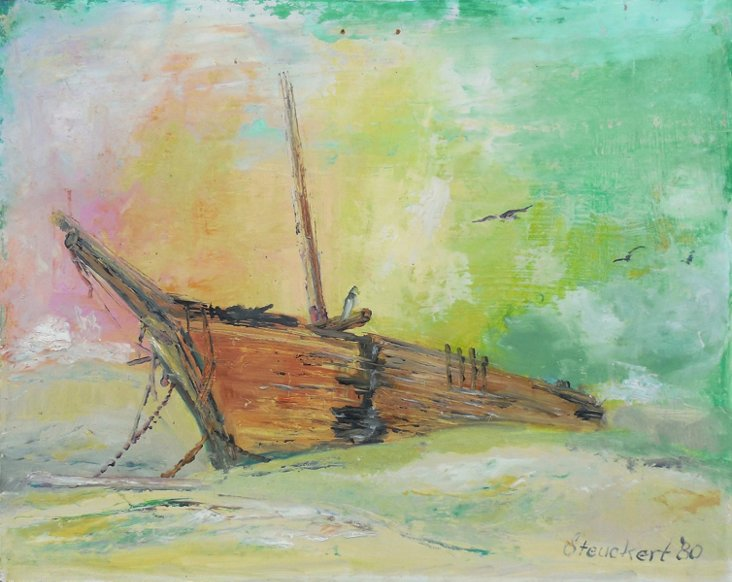 Beached Boat at Sunset, 1980