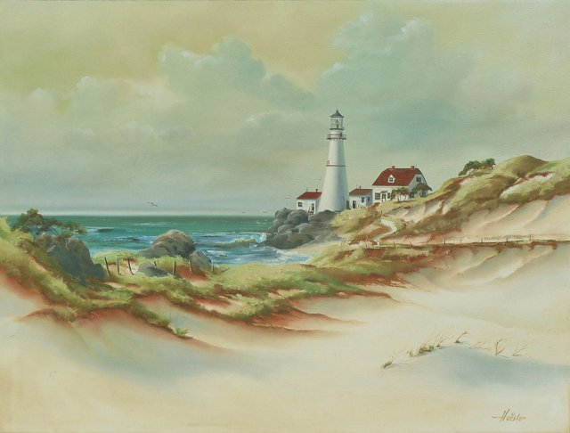 Coastal Landscape w/ Lighthouse