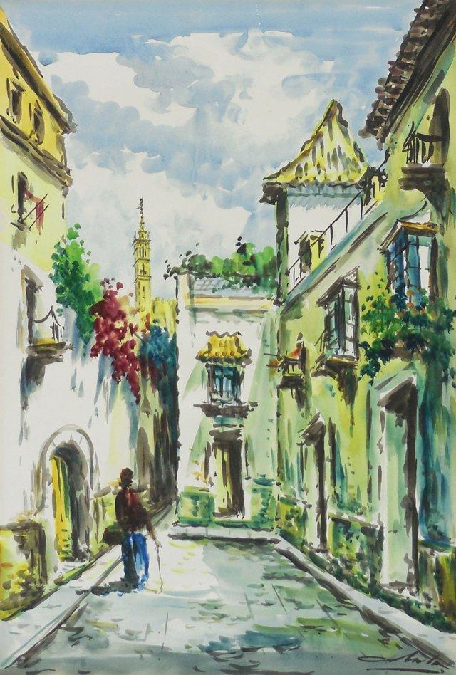 1960s   Spanish Courtyard