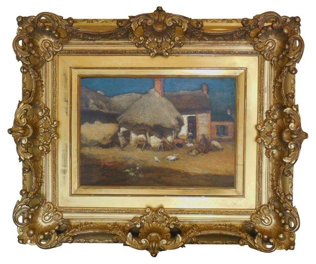 1d/ French Farmyard, 1880s