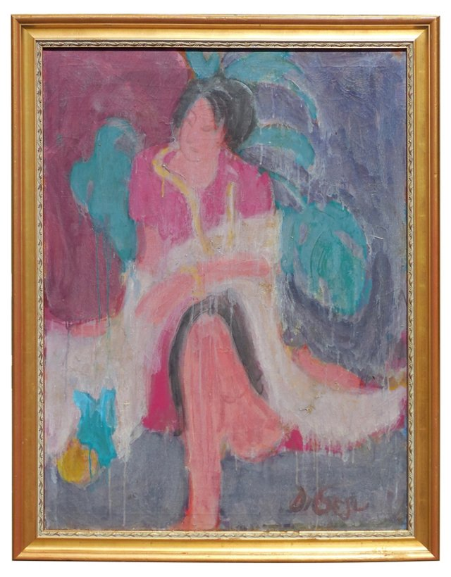 Girl in a White Shawl, Di Gesu, 1955