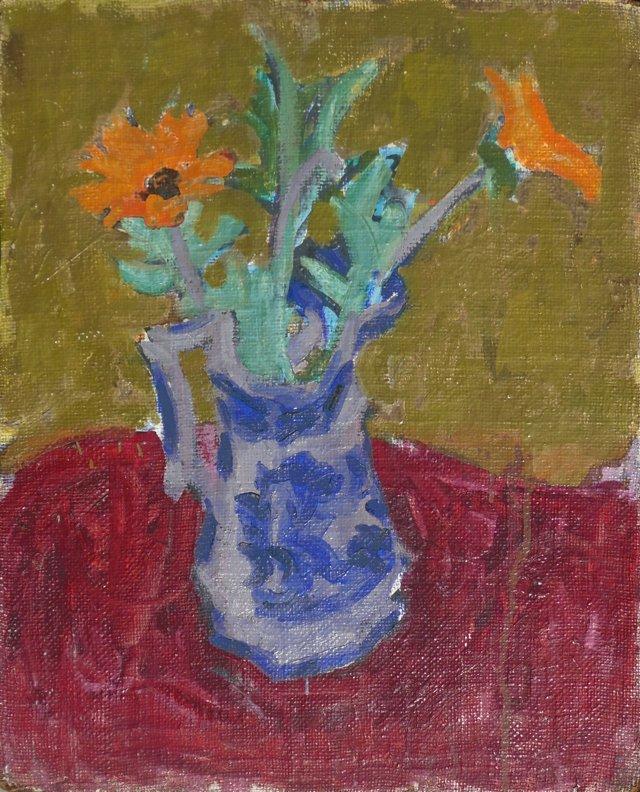 @RL/Marigolds in Delft by Di Gesu, 1955